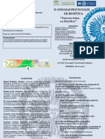 Programa II Jornadas Bioetica