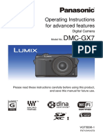 DMC-GX7 Operating Instructions for Advanced Features