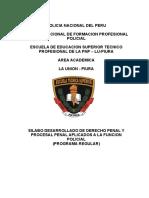 Sílabus de Derecho Penal, Procesal Penal Afp
