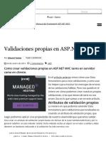 Validaciones Propias en ASP.NET