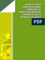 Manual para comunicadores y periodistas sobre la primera infancia