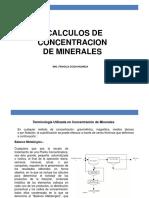Calculos en Concentracion de Minerales