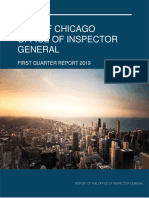 OIG First Quarter 2019 Report