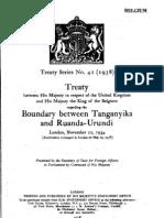 Treaty regarding the boundary between Tanganyika and Ruanda-Urundi - 22 November 1934