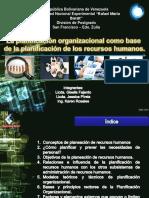 Planificación organizacional como base la planiicación de RRHH