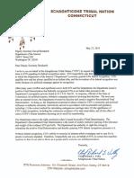 Letter From Chief Velky to Dep Secretary Bernhardt