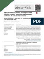 Potencialidad de un residuo de frita procedente del  sector cerámico como materia prima para la producción  de material vitrocerámico