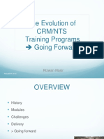 PACDEFF 2013 the Evolution of Crm Nts Training Programmes Going Forward