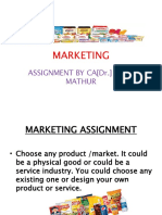 Marketing Assignment