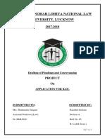 Drafting of Pleadings FD