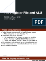 17 - The Register File and ALU
