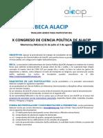 Beca Para Traslado Aereo Alacip 2019