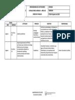Cronograma de Actividades Derecho Publico - Consultorio Juridico Unisucre 2