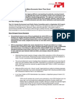 EPA Proposals Will Inflict More Economic Harm Than Good Briefing Paper – 11.1.10