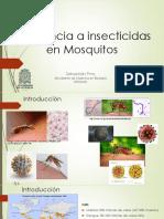 Resistencia a insecticidas en los mosquitos