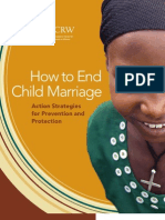 How to End Child Marriage Action Strategies for Prevention and Protection Brief