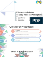 Effects of Air Pollution on Body Water and Atmosphere