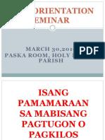 Basic Orientation Seminar