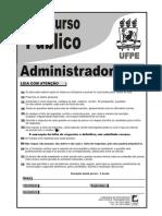 Prova Administrador UFPE