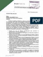 Ley que modifica la Ley de Elecciones Regionales y la Ley de Elecciones Municipales, sobre los sistemas electorales regional y municipal