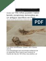 Más de 140 niños pueden haber tenido corazones removidos en un antiguo sacrificio en Perú.docx