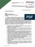 Ley que modifica la Ley de Organizaciones Políticas, la Ley de Elecciones Regionales y la Ley Orgánica de Elecciones, sobre inscripción y cancelación de partidos y organizaciones políticas regionales