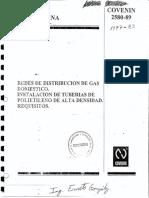 2580-89 Redes Distribucion Gas Domestico PEAD
