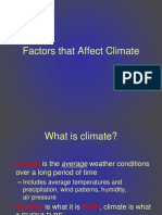 Factors That Affect Climate