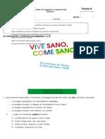 Prueba de Lenguaje Sexto Unidad 4 Forma A