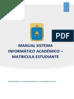 Manual de Matricula Estudiante SIA