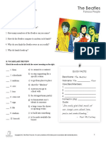 The Beatles Reading Comprehension. (Excellent).pdf