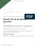 Receta de Aji de Gallina Peruano