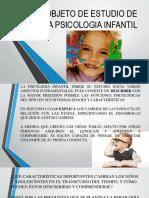 Objeto de Estudio de La Psicologia Infantil