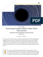 How Supermassive Black Holes Were Discovered