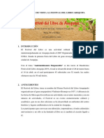 Informe de Visita Al Festival Del Libro Arequipa