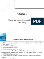 Univariate Time Series Modelling and Forecasting