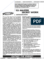How to Master Secret Work - SACP