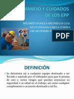 USO, MANEJO Y CUIDADOS DE LOS EPP.pptx