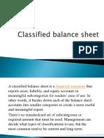 3- Lecture 3 Classified Balance Sheet