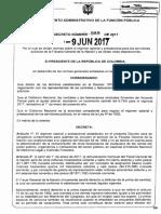 Decreto 989 Del 09 de Junio de 2017