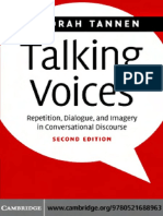 [Studies in Interactional Sociolinguistics] Deborah Tannen - Talking Voices_ Repetition, Dialogue, and Imagery in Conversational Discourse (2007, Cambridge University Press).pdf
