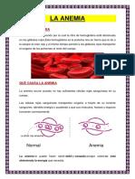 La Anemia Monografia