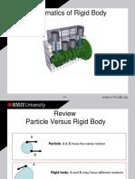 Planar Kinematics of Rigid Body Notes