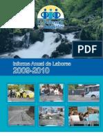 Informe Anual de Labores 2009-2010