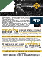 Información sobre taller de Fernando Sanjiao en Perú