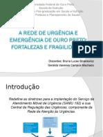 A Rede de Urgência de Ouro Preto