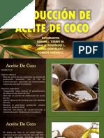 Producción de Aceite de Coco