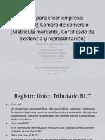 Pasos para crear empresa grupo 2 rut, rup, camara y comercio (1).pptx