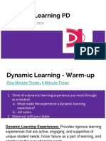 dynamic learning pd 2