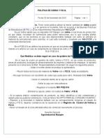 Politica de Vidrios y P.D.Q.